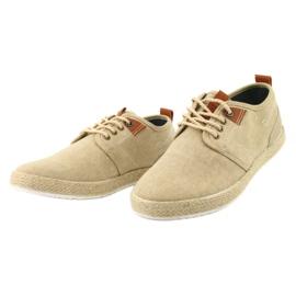 Espadrilles men's shoelaces Big Star FF174153 brown 2