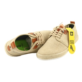 Espadrilles men's shoelaces Big Star FF174153 brown 6