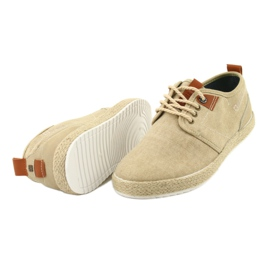 Espadrilles men's shoelaces Big Star FF174153 brown 4