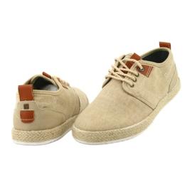 Espadrilles men's shoelaces Big Star FF174153 brown 3
