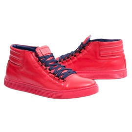 KENT Men's Leather Torres Red Sneakers 6
