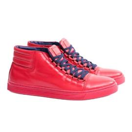 KENT Men's Leather Torres Red Sneakers 1
