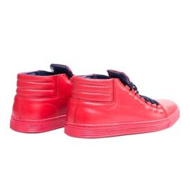 KENT Men's Leather Torres Red Sneakers 2