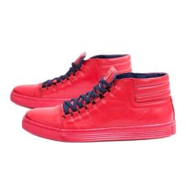 KENT Men's Leather Torres Red Sneakers 4
