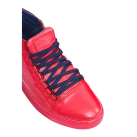 KENT Men's Leather Torres Red Sneakers 5