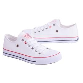 Big Star Low Mens White Sneakers T174102 6
