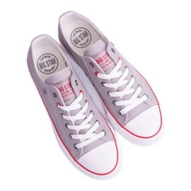 Big Star Low Mens Gray Sneakers T174109 grey 3