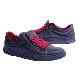 KENT Elon Men's Leather Sneakers navy 7