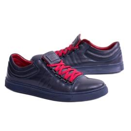 KENT Elon Men's Leather Sneakers navy 3