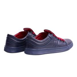 KENT Elon Men's Leather Sneakers navy 2