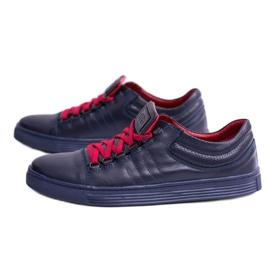 KENT Elon Men's Leather Sneakers navy 4