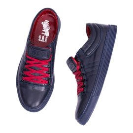 KENT Elon Men's Leather Sneakers navy 5