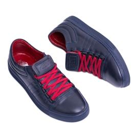 KENT Elon Men's Leather Sneakers navy 6