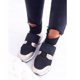Lu Boo Women's Sport Shoes With Phantom Gold Glitter Sock black multicolored yellow 1
