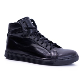 Bednarek Polish Shoes Men's Leather Sneakers Bednarek Czarne Edys black 6