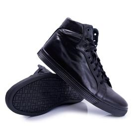 Bednarek Polish Shoes Men's Leather Sneakers Bednarek Czarne Edys black 4