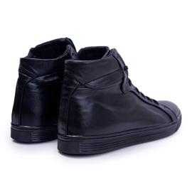 Bednarek Polish Shoes Men's Leather Sneakers Bednarek Czarne Edys black 2
