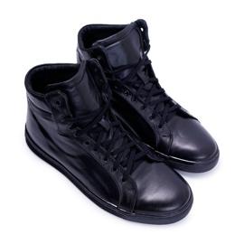 Bednarek Polish Shoes Men's Leather Sneakers Bednarek Czarne Edys black 5