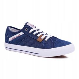 Sneakers Men Cross Jeans Classic Jeans Dark Blue DD1R4027 navy 1