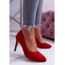 EVE Women's Suede High Heels Red Spitz Kiss Me 3