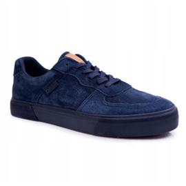 Big Star Sneakers Suede Navy Blue EE174363 5