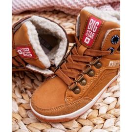 Big Star Boys' Booties Sheepskin Camel EE374085 brown 3