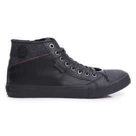 Big Star Black Men's High Top Sneakers EE174102 1