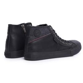 Big Star Black Men's High Top Sneakers EE174102 2