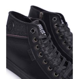 Big Star Black Men's High Top Sneakers EE174102 4