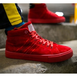 Cross Jeans High Leather Suede Mens Sneakers Red EE1R4055C 1