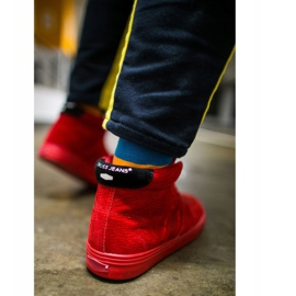 Cross Jeans High Leather Suede Mens Sneakers Red EE1R4055C 3