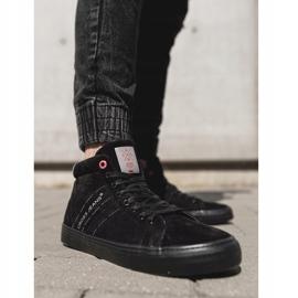 Men's Cross Jeans High Leather Suede Black Sneakers EE1R4057C 1