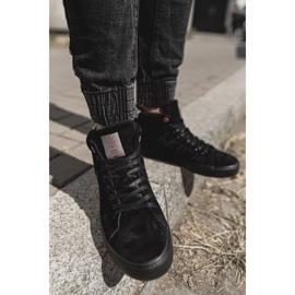 Men's Cross Jeans High Leather Suede Black Sneakers EE1R4057C 3
