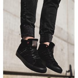 Men's Cross Jeans High Leather Suede Black Sneakers EE1R4057C 5