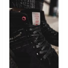 Men's Cross Jeans High Leather Suede Black Sneakers EE1R4057C 2