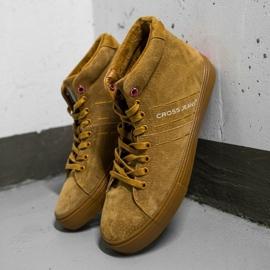 Men's Sneakers High Cross Jeans Leather Suede Camel EE1R4054C brown 1