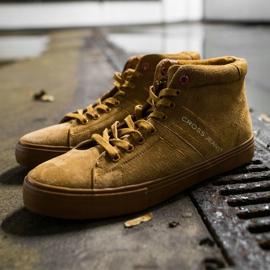 Men's Sneakers High Cross Jeans Leather Suede Camel EE1R4054C brown 2