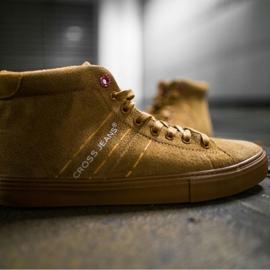 Men's Sneakers High Cross Jeans Leather Suede Camel EE1R4054C brown 4