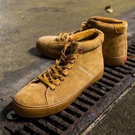 Men's Sneakers High Cross Jeans Leather Suede Camel EE1R4054C brown 3
