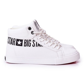 Big Star Mens High Sneakers White EE174340 4