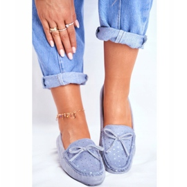 Moccasins for Women Suede S.Barski A199 Blue Wannabe 2