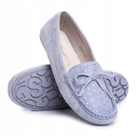 Moccasins for Women Suede S.Barski A199 Blue Wannabe 1