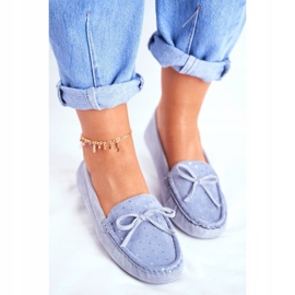 Moccasins for Women Suede S.Barski A199 Blue Wannabe 3