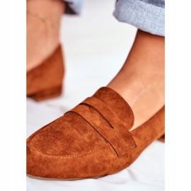 Women's Suede Loafers Sergio Leone MK734 Camel Nebbi brown 2