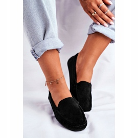EVE Morreno Women's Black Suede Loafers 1