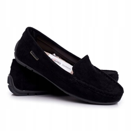 EVE Morreno Women's Black Suede Loafers 3