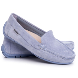 EVE Morreno Women's Loafers Blue Suede 4
