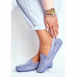 EVE Morreno Women's Loafers Blue Suede 1