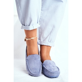 EVE Morreno Women's Loafers Blue Suede 2