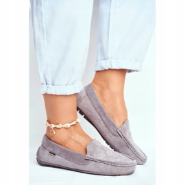 EVE Morreno Women's Loafers Gray Suede grey 3